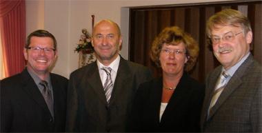 v.l.n.r. Hans-Josef Schneider, Rainer Thiel, Petra Kammerevert, Dr. Holger Tesmann