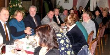 Die Jüchener Sozialdemokraten bei ihrer Weihnachtsfeier