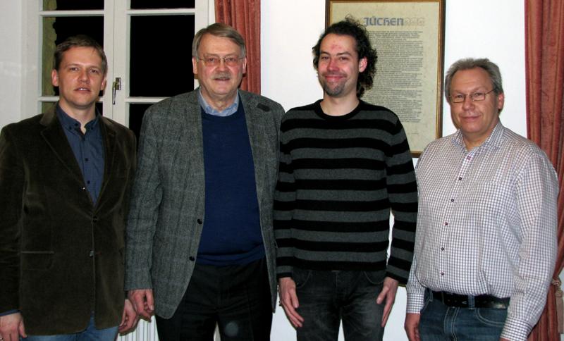 Das Team der Vorsitzenden (v.l.n.r.): Holger Witting, Holger Tesmann, Hanno Gischler, Joachim Drossert