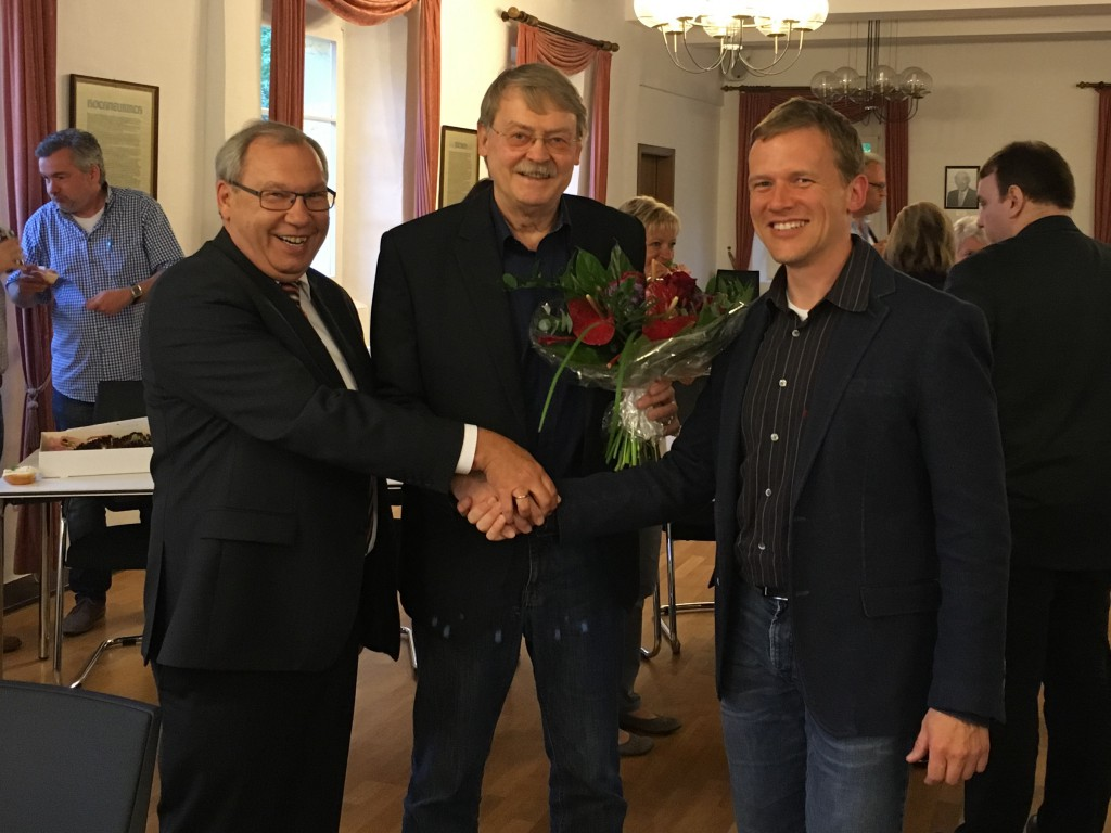 Joachim Drossert (Ortsvereinsvorsitzender), Dr. Holger Tesmann, Holger Witting (Fraktionsvorsitzender) (v.l.n.r.)